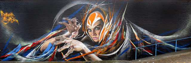 Street Art Collaboration By Adnate And Shida On The Streets Of Woolongong in Australia. 2