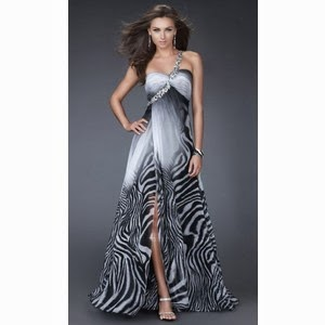 Zebra Striped Prom Dresses 94