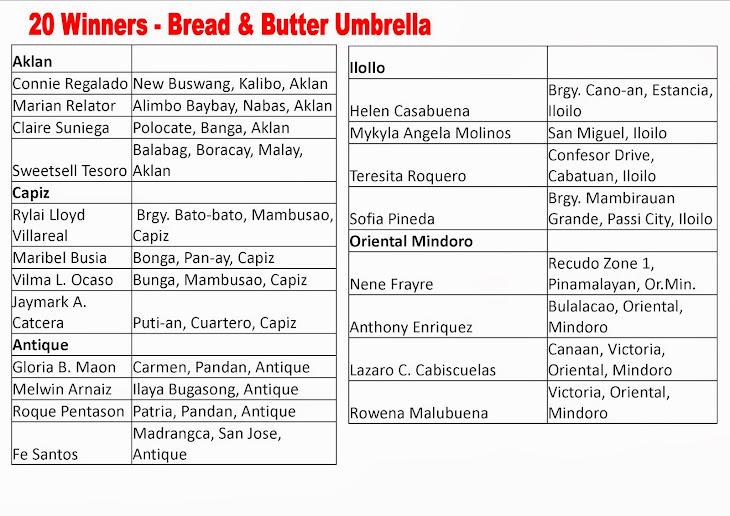 Makisaya at Manalo sa Sarap ng Bread & Butter Promo