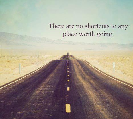 there are no shortcut