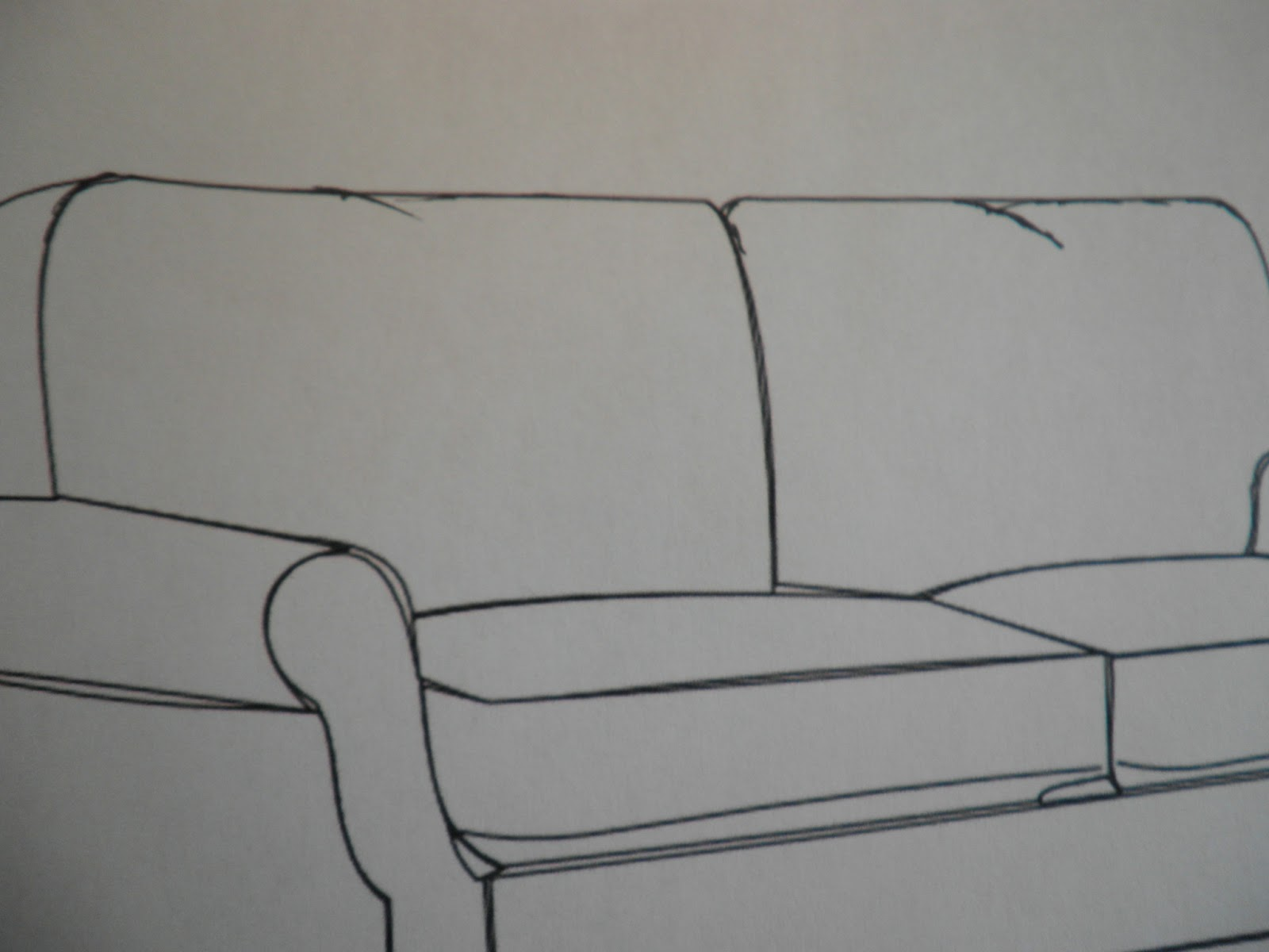 Step Two Using The Prismacolor Marker French Grey 10 Fill In Each Section Of Sofa With A Uniform Wash Color