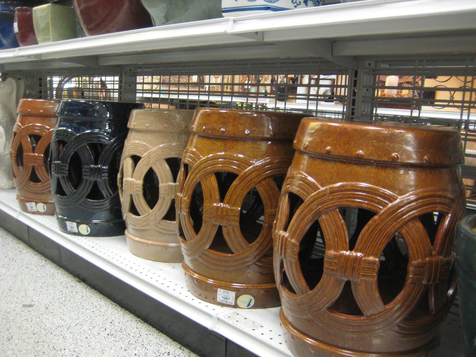JPM Design: Ceramic Garden Stools