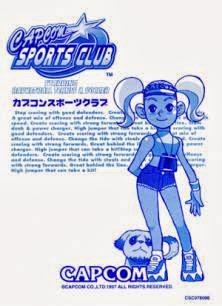 Capcom Sport Club arcade game portable flyer