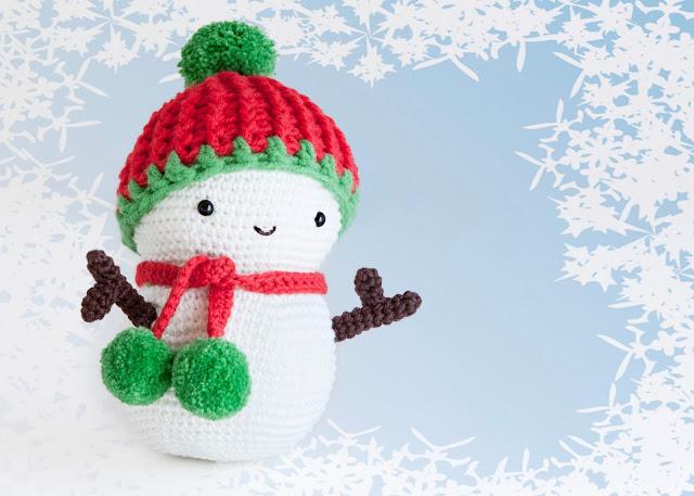 amigurumi muñeco nieve snowman