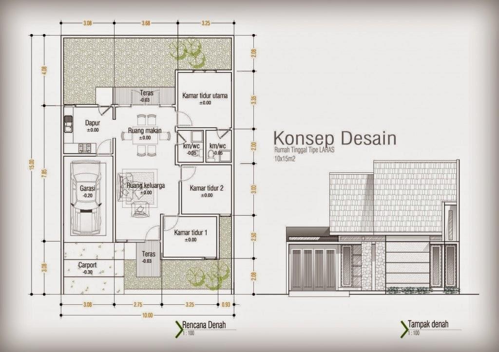 Desain Rumah Minimalis  Lantai Ukuran X