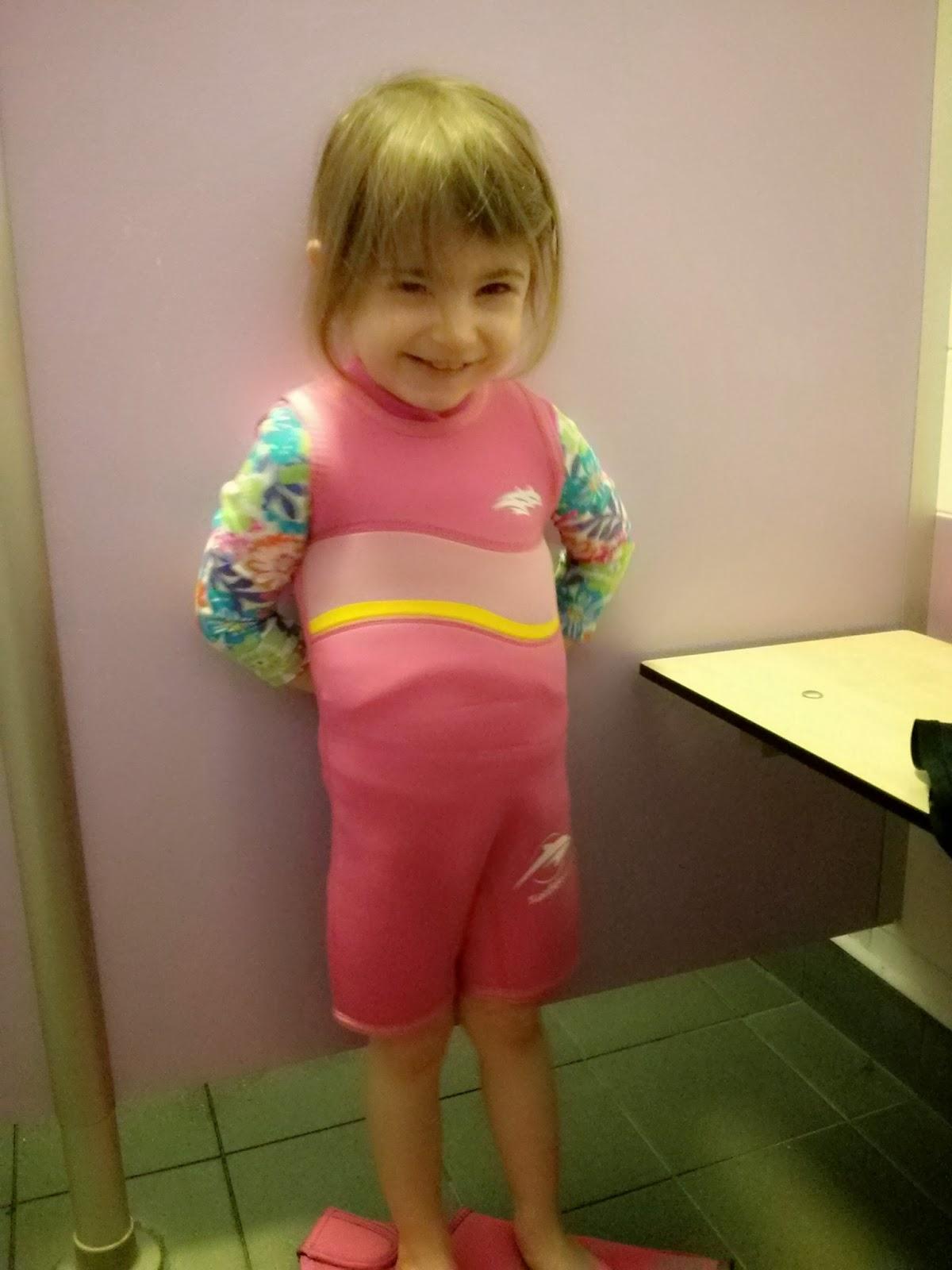 Eldest in Pink Warma wetsuit