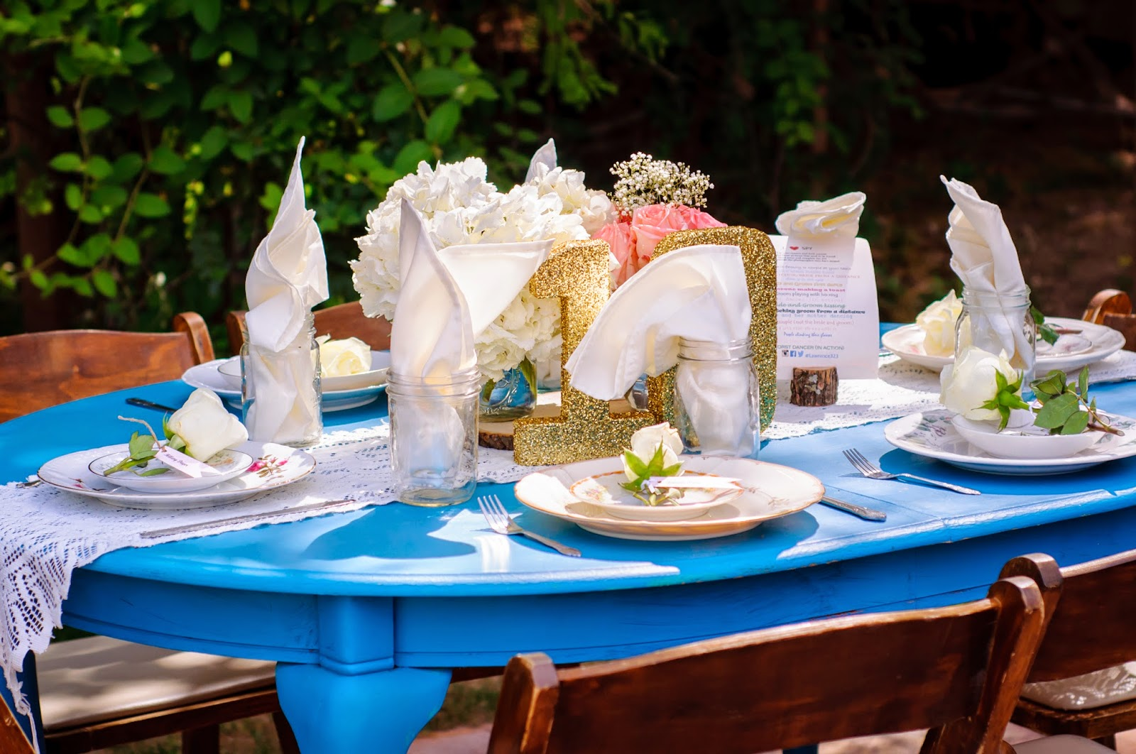 shabby chic table decorations