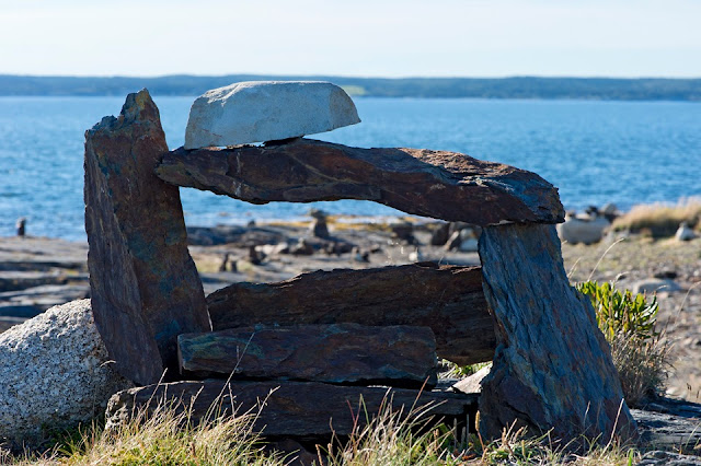 Nova Scotia; Gaff Point; Stone Stacking