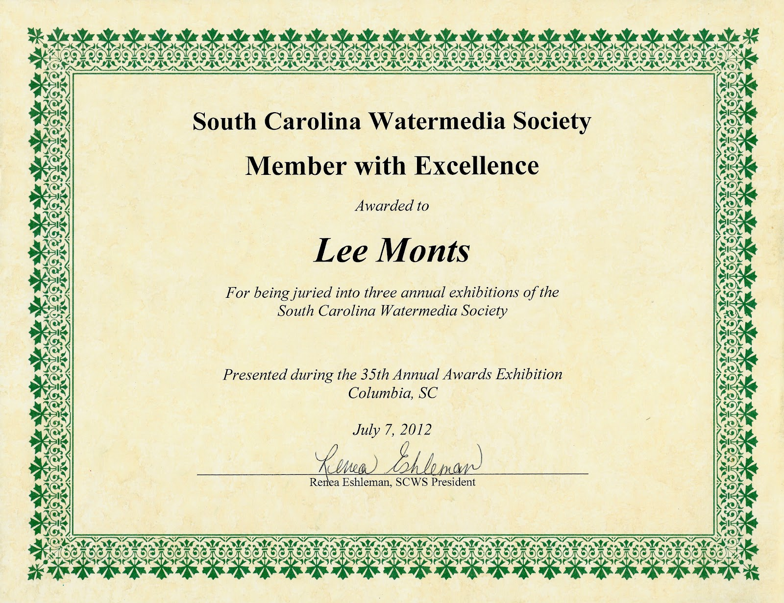 323 Art Lee Monts The Certificate