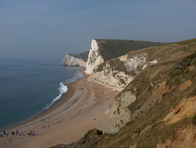 The cliffs looking from Durdle Door