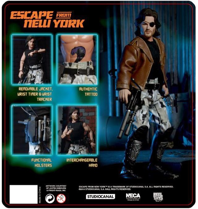 "NECA - 8"" Inch Retro - Escape From New York - Snake Plissken figure"