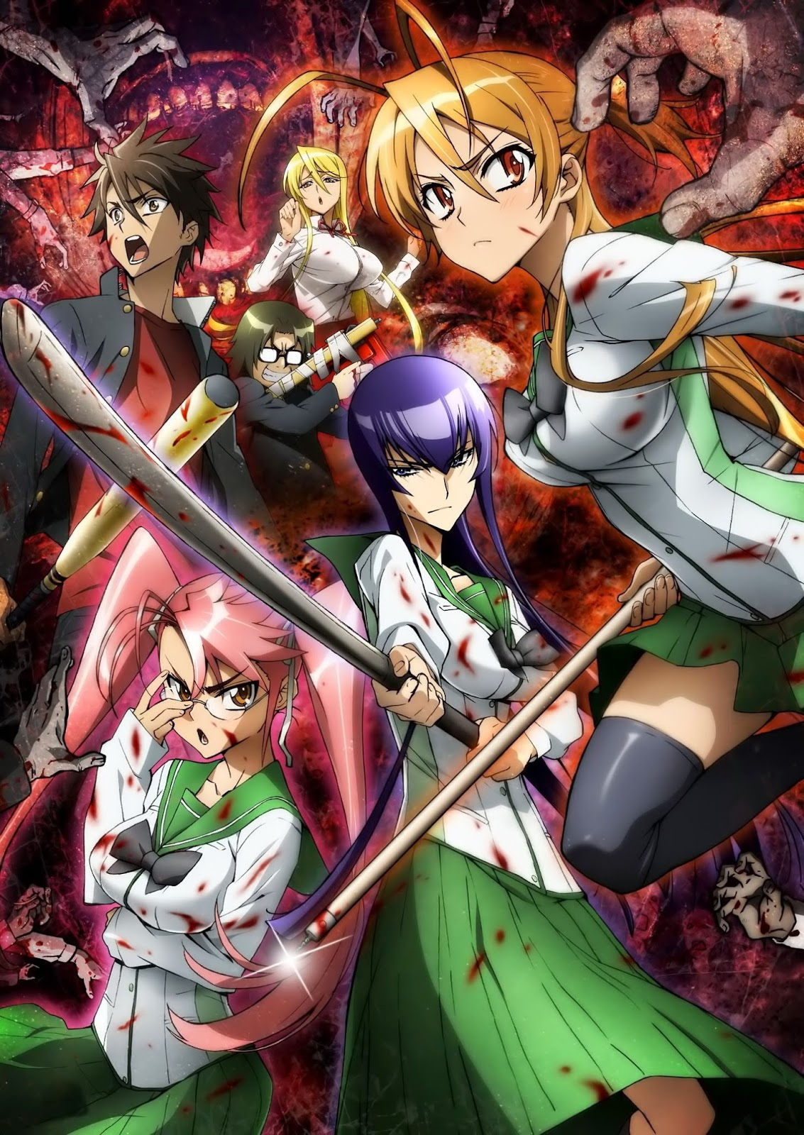 Highschool of the Dead | 12/12 + OVA | BD 720p | MEGA