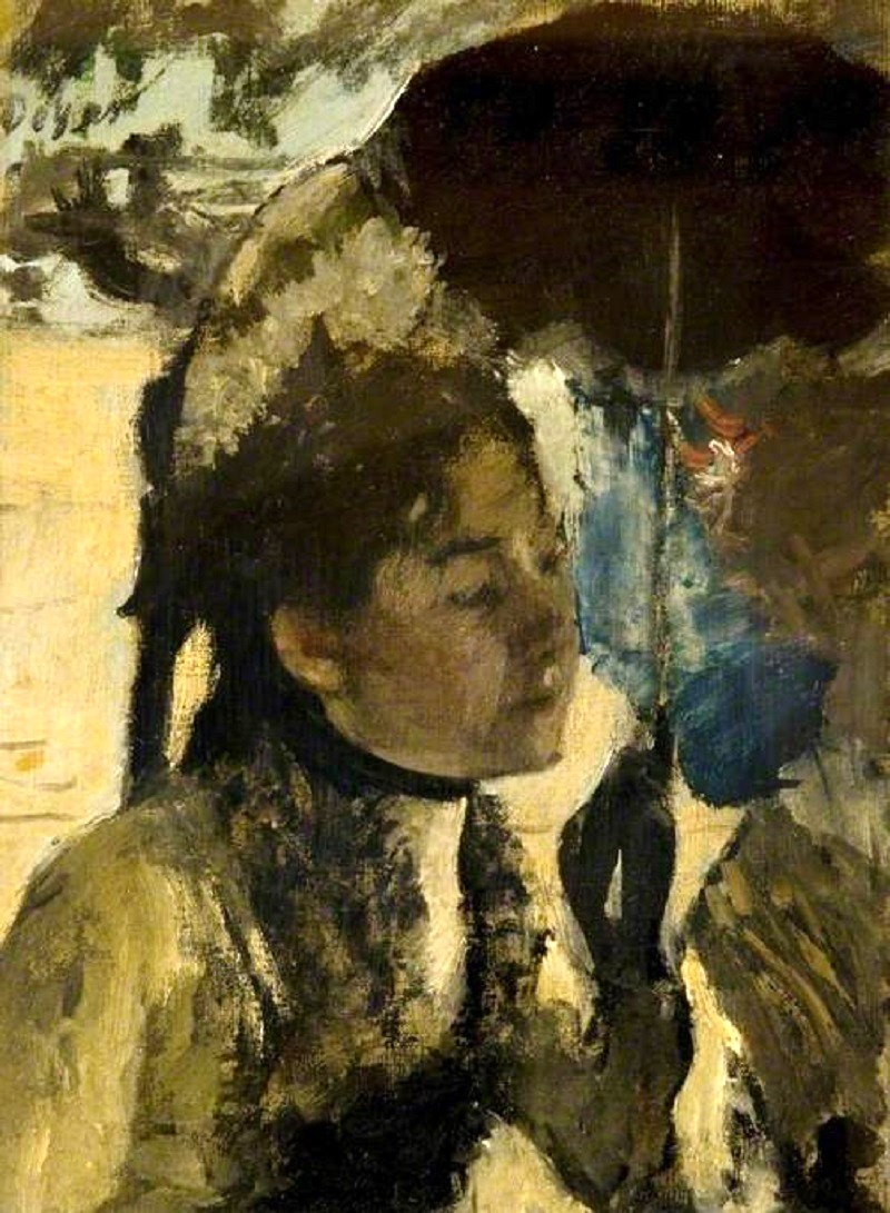 Edgar Degas (french Artist, 1834–1917) In The Tuileries, Woman With A  Parasol