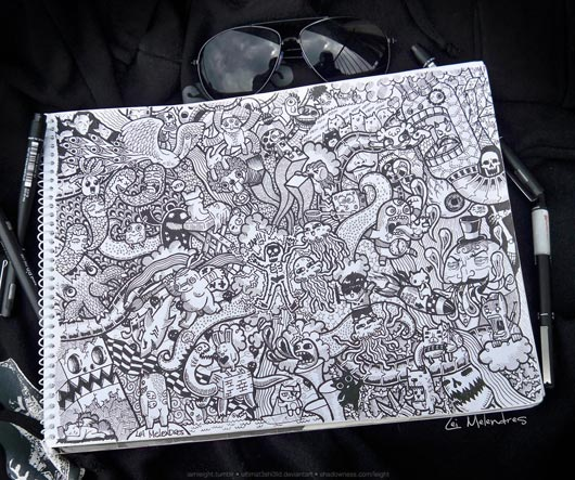 Doodle Art 40 Awesome Doodle Art Inspiration Examples