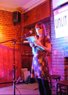 Sarah reading from Killing Daniel at the Norwich launch event