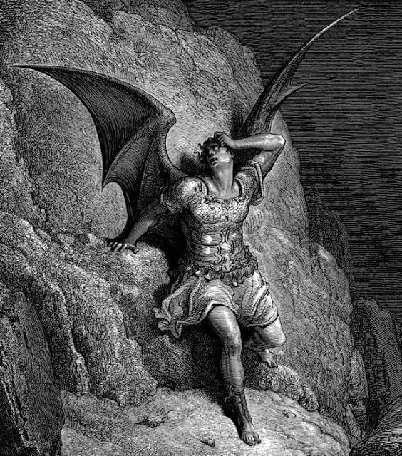 Representación de Satán, el antagonista por Gustave Doré para el poema épico El paraíso perdido, de John Milton.
