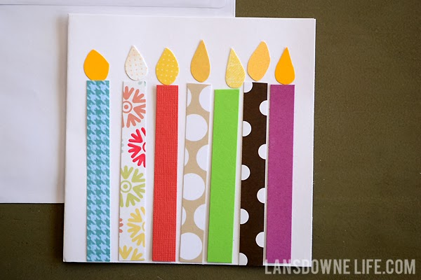 Birthday candle handmade birthday card