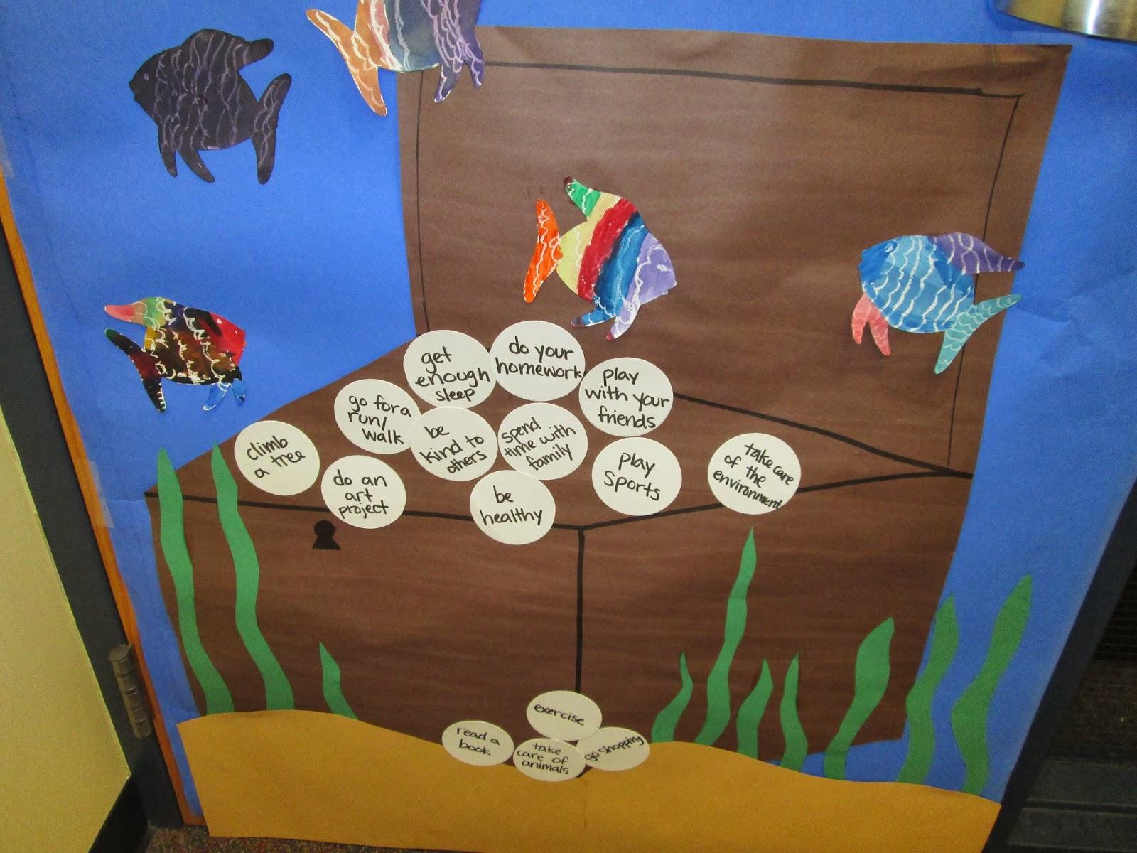 Adventures In Third Grade Red Ribbon Week Ocean Door Decoration