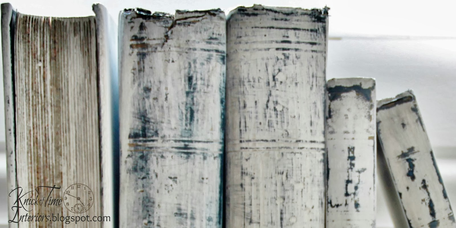 White Painted Books {Prettying Up Ugly Old Books} | Knick ...