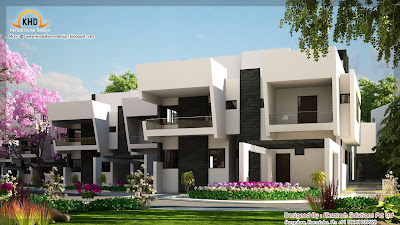 2 Beautiful modern contemporary home elevations   Kerala home