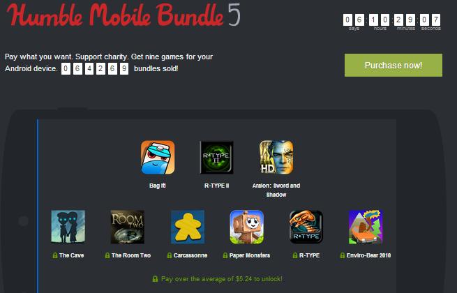Los juegos que componen el Humble Mobiles Bundle 5, con juegos solo para Android.