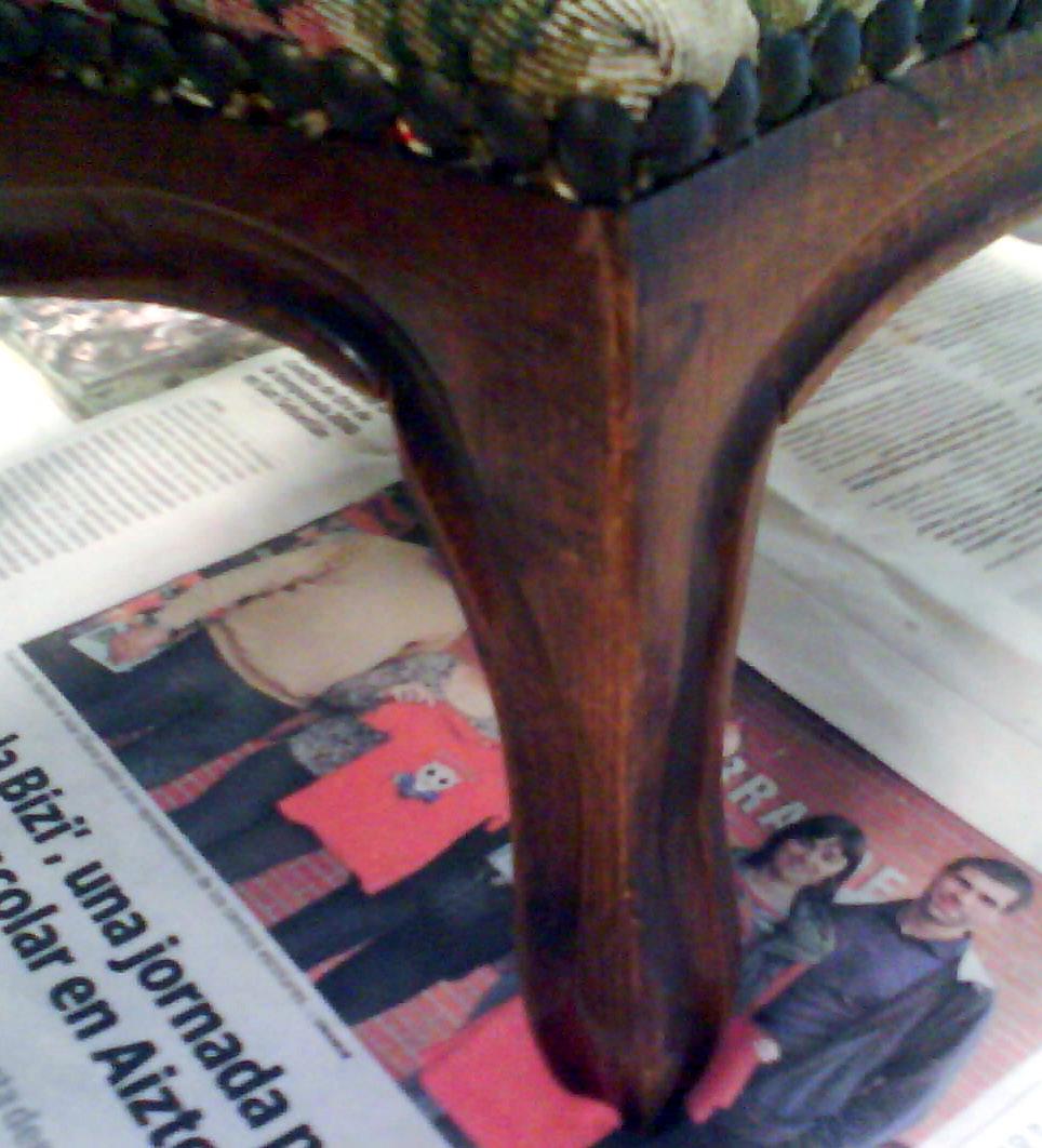 Retazos de mi vida: Recuperar un escabel antiguo