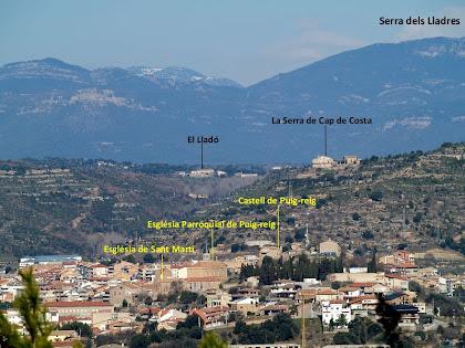 Vista de Puig-reig des de la zona de la Vinya del Cigala