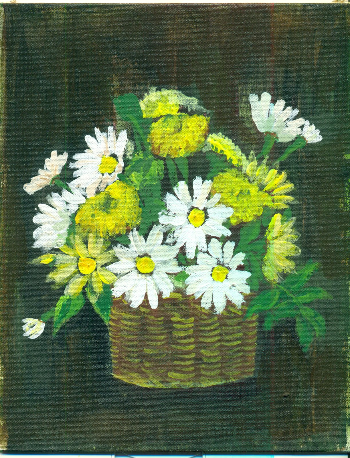 Gold country girls found pretty little original paintings i love picking up original works of art at thrift stores for a song these pretty flowers are all giving me something to sing about today happy daisies mightylinksfo