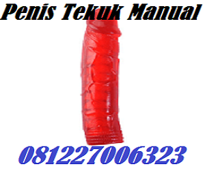 Sex Toys Wanita Penis Tekuk Manual Silikon