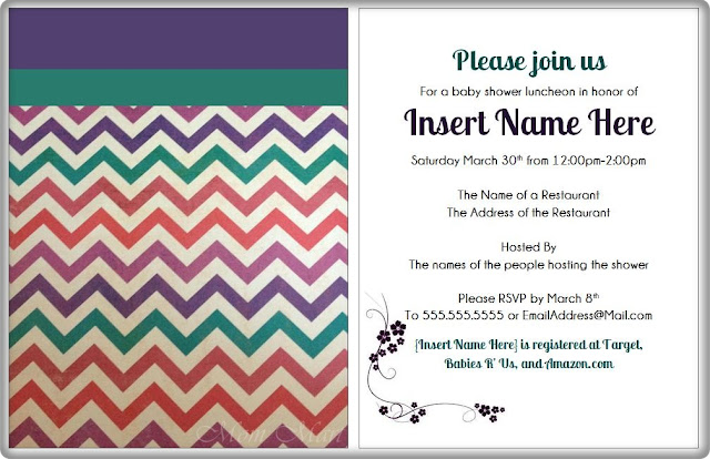 Modern Purple Baby Shower Invitation