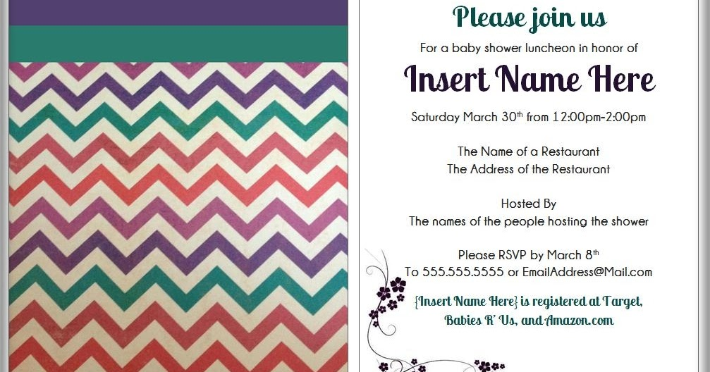 Mom mart diy modern baby shower invitations filmwisefo Image collections