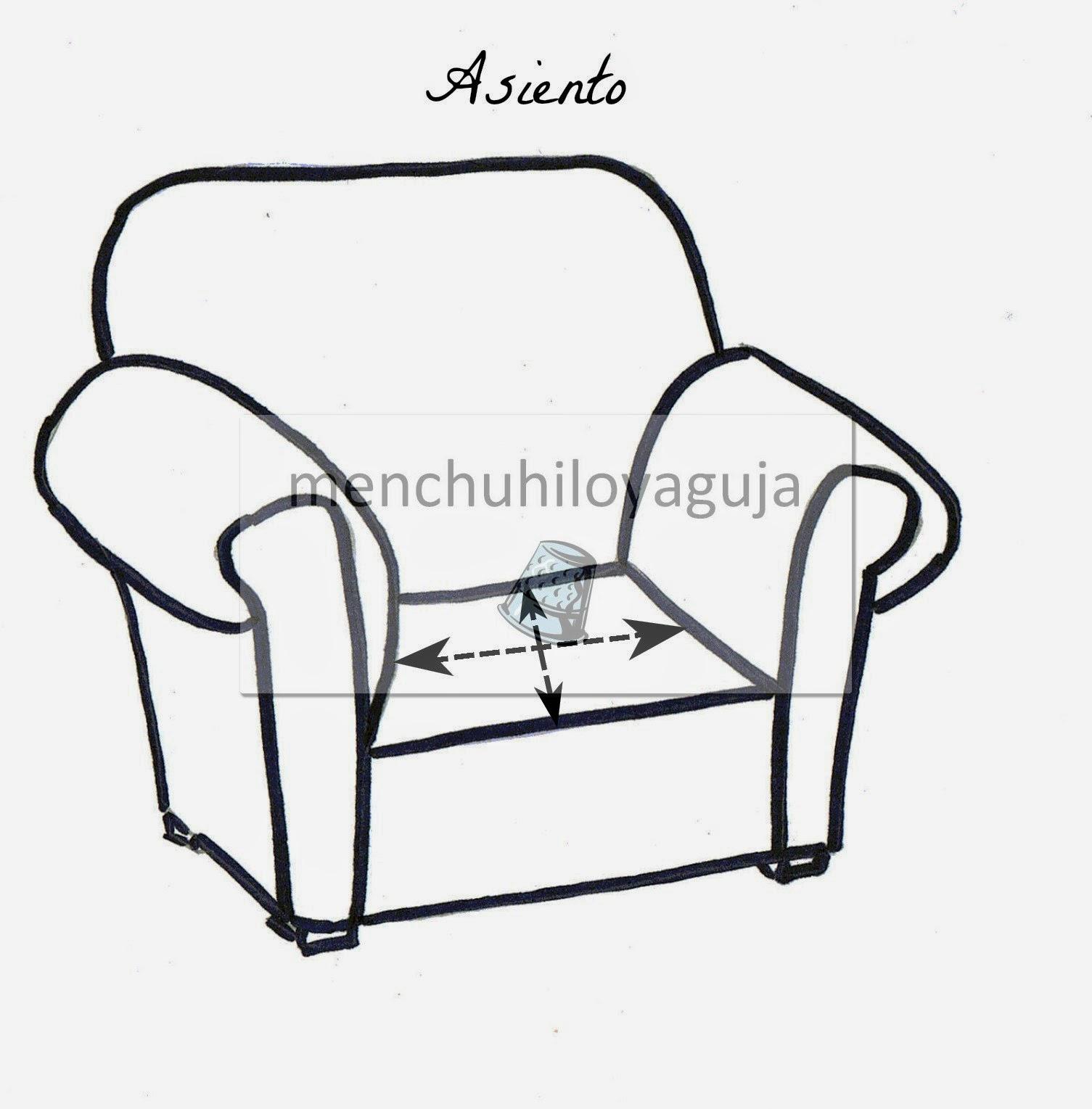 Patrones de costura c mo medir un sof para confeccionar for Sofas y punto