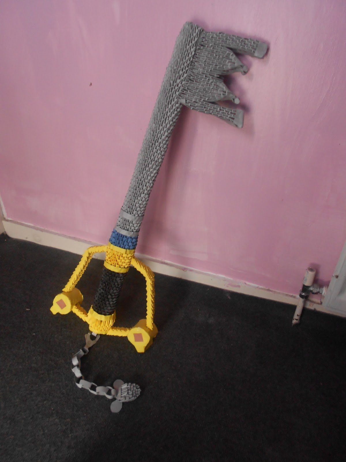 This Is A 3D Oragami Keyblade From The Video Game Kingdom Hearts