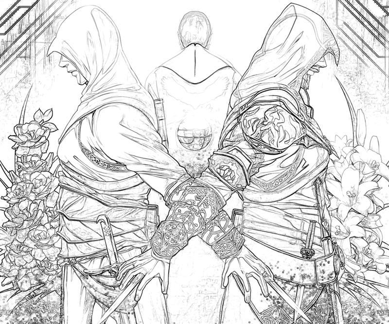 free assassins creed coloring pages