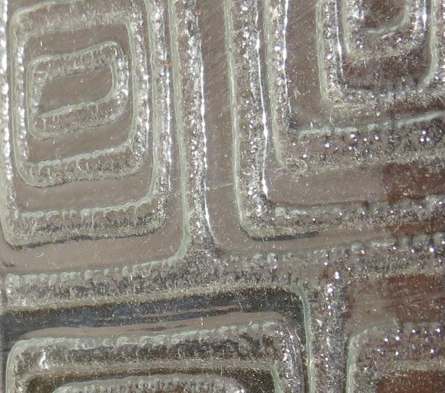 Ampliação de Fotografia Macro de Textura de vidro de porta de casa de banho