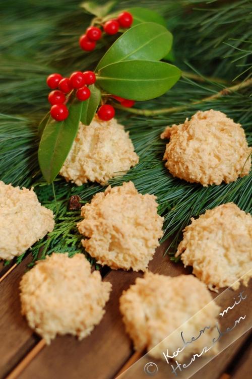 Weihnachtsbäckerei - Kokosmakronen