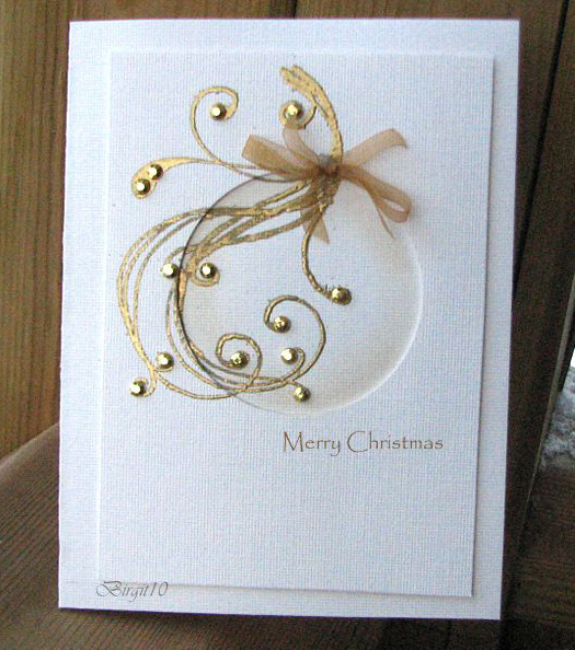 christmas for cards gold  painting