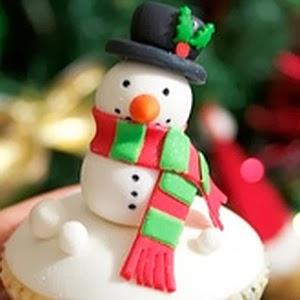 Decoración Navideña, Cupcakes, Hombres de Nieve