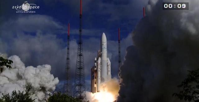 Ariane 5 liftoff. Credit: ESA