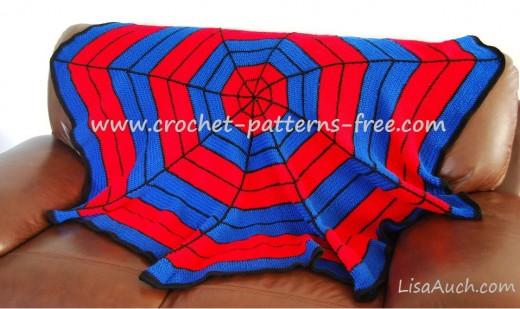 Spiderman Inspired Crochet Blanket A Free Pattern Free Crochet
