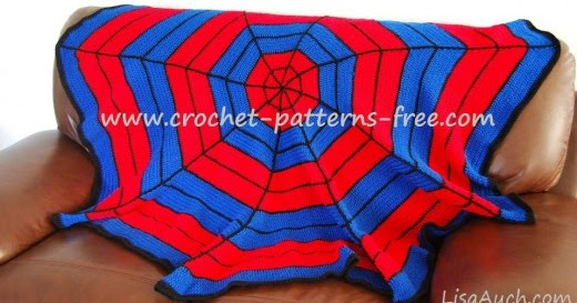 Ideal Spiderman inspired Crochet Blanket A Free Pattern Free Crochet Patterns and Designs by LisaAuch