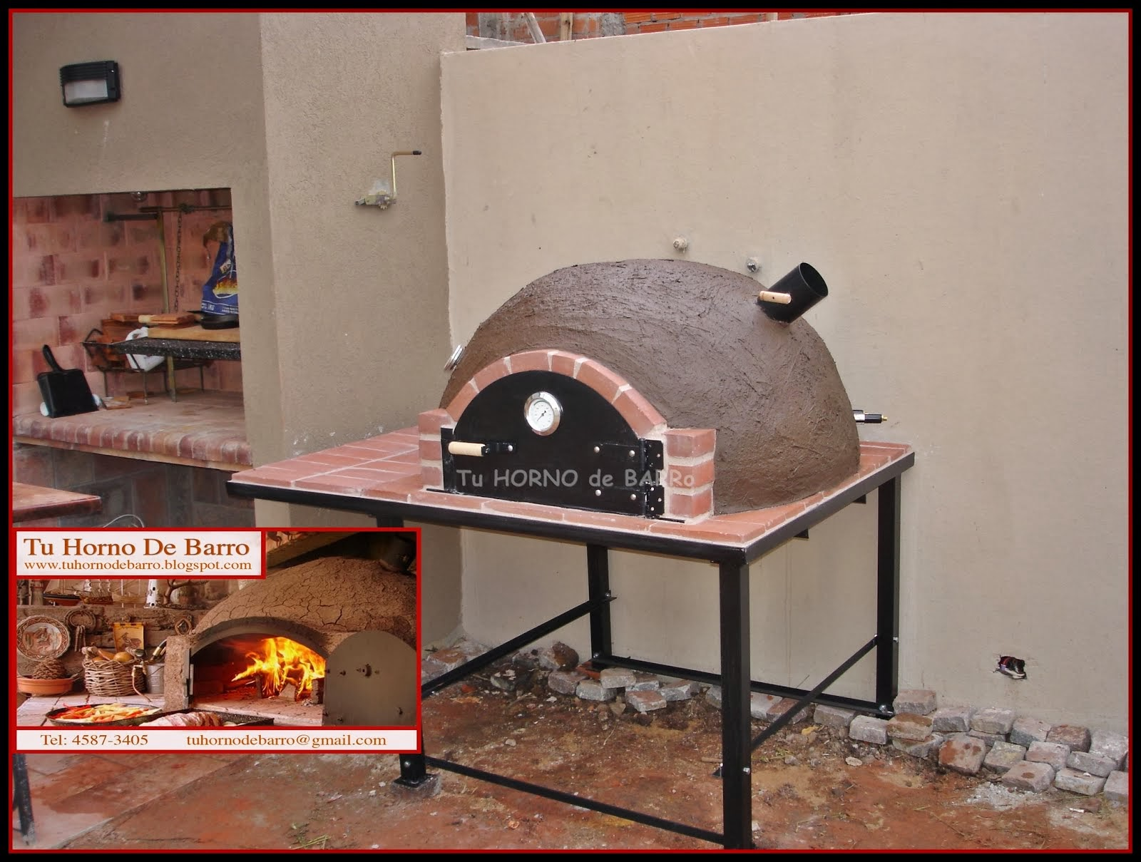 HORNO FAMILIAR CON BASE de HIERRO