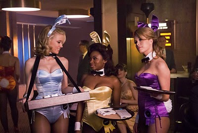 Amber Heard, Naturi Naughton, and Leah Renee fill outn their bunny costumes on The Playboy Club