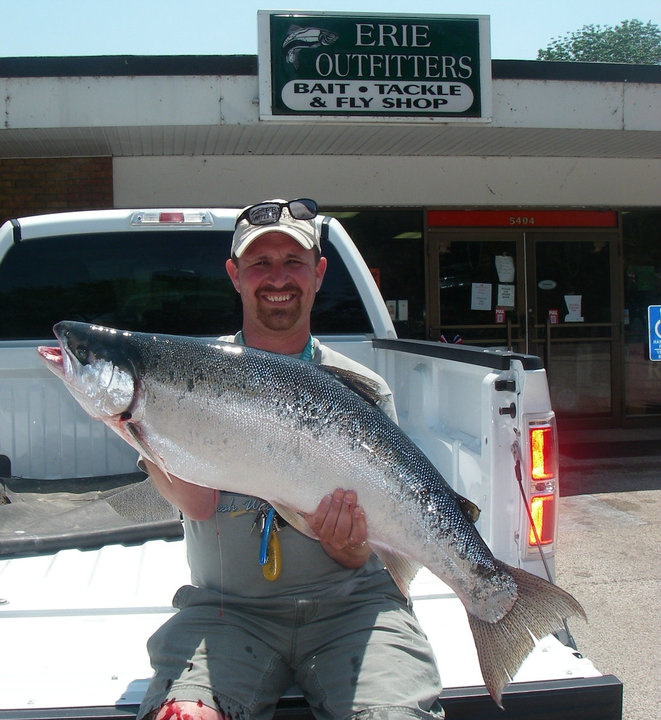 Ohio fishing source new state record steelhead for Fish steelhead alley