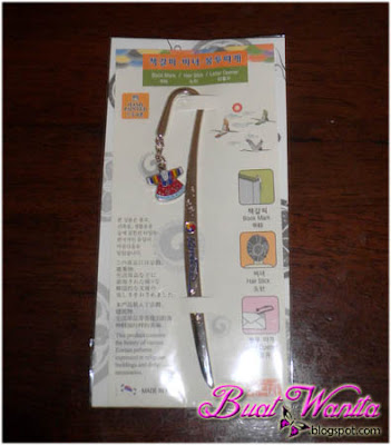 Dapat Gift Bookmark Korea Dari Blogger Jari Manis