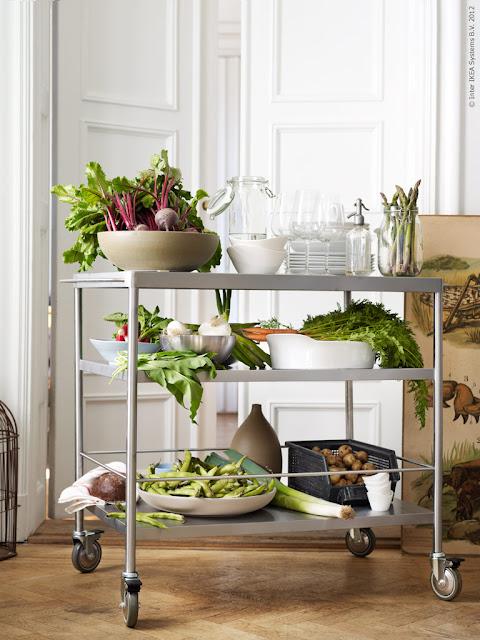 healthy trolley of food