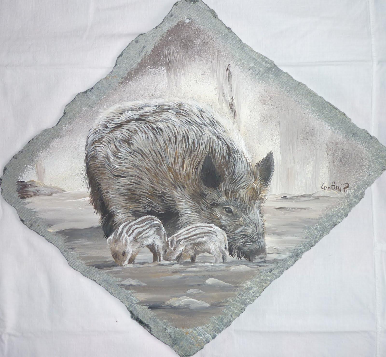 Ritrattista di animali cinghiali - Disegno di immagini di veicoli ...
