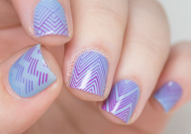 Gradient Stamping with MoYou Fashionista Collection - The ...