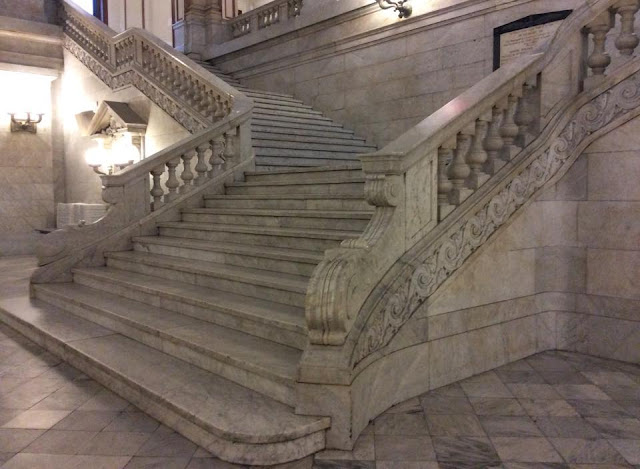 st louis city hall lobby marble stairs closeup