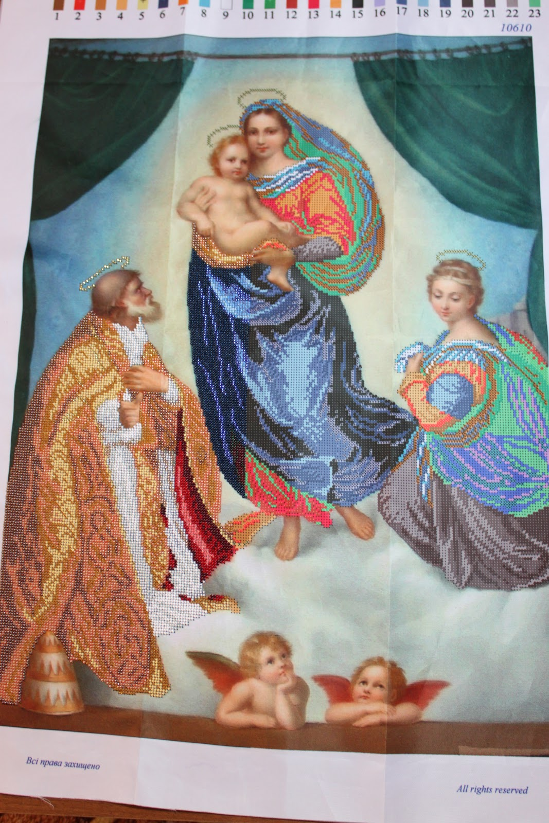 Набор вышивки сикстинская мадонна 497